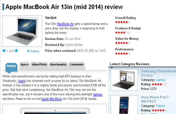 Apple MacBook Air 13in (mid 2014) review
