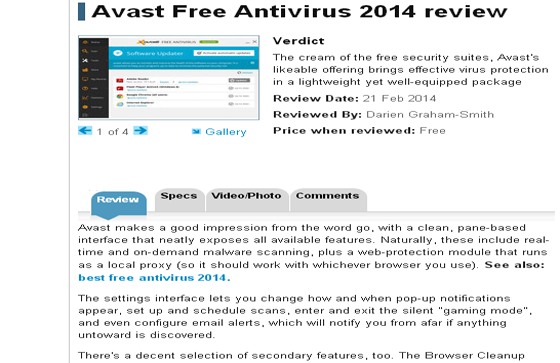 Avast Free Antivirus 2014 review