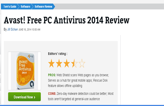 Avast! Free PC Antivirus 2014 Review