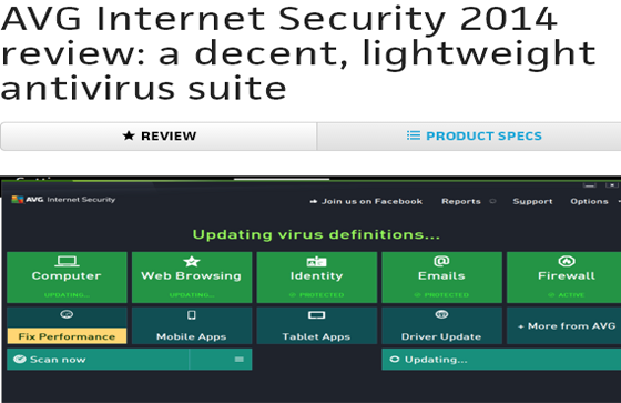 AVG Internet Security 2014 review: a decent, lightweight antivirus suite