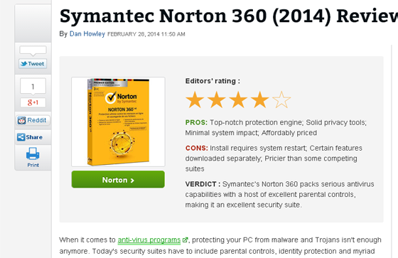 Symantec Norton 360 (2014) Review