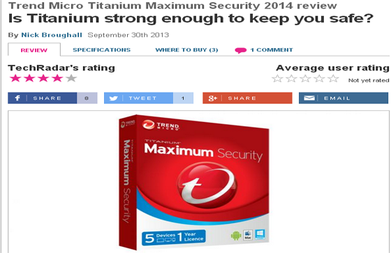 Trend Micro Titanium Maximum Security 2014 review