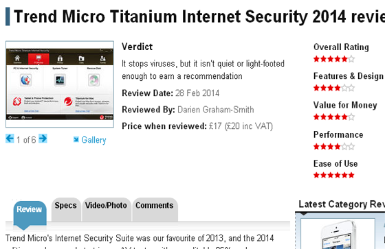 Trend Micro Titanium Internet Security 2014 review