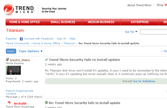 Trend Micro Issue